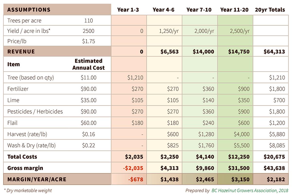 BCHGA - Sample Enterprise Budget