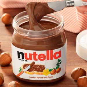 Nutella made from hazelnuts